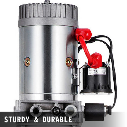 12 Quart Single Acting Hydraulic Pump Dump Trailer Unloading Power Unit Car