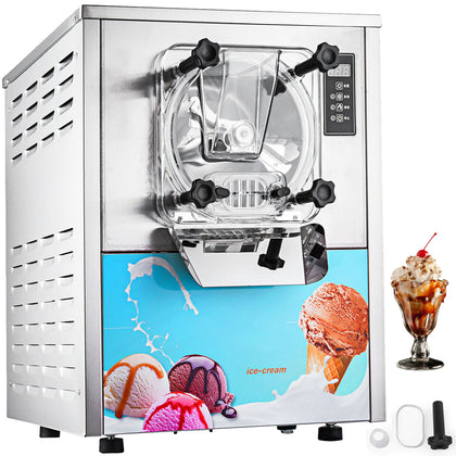 Frozen Hard Ice Cream Machine Lcd Display 110v Commercial Ice Cream Maker