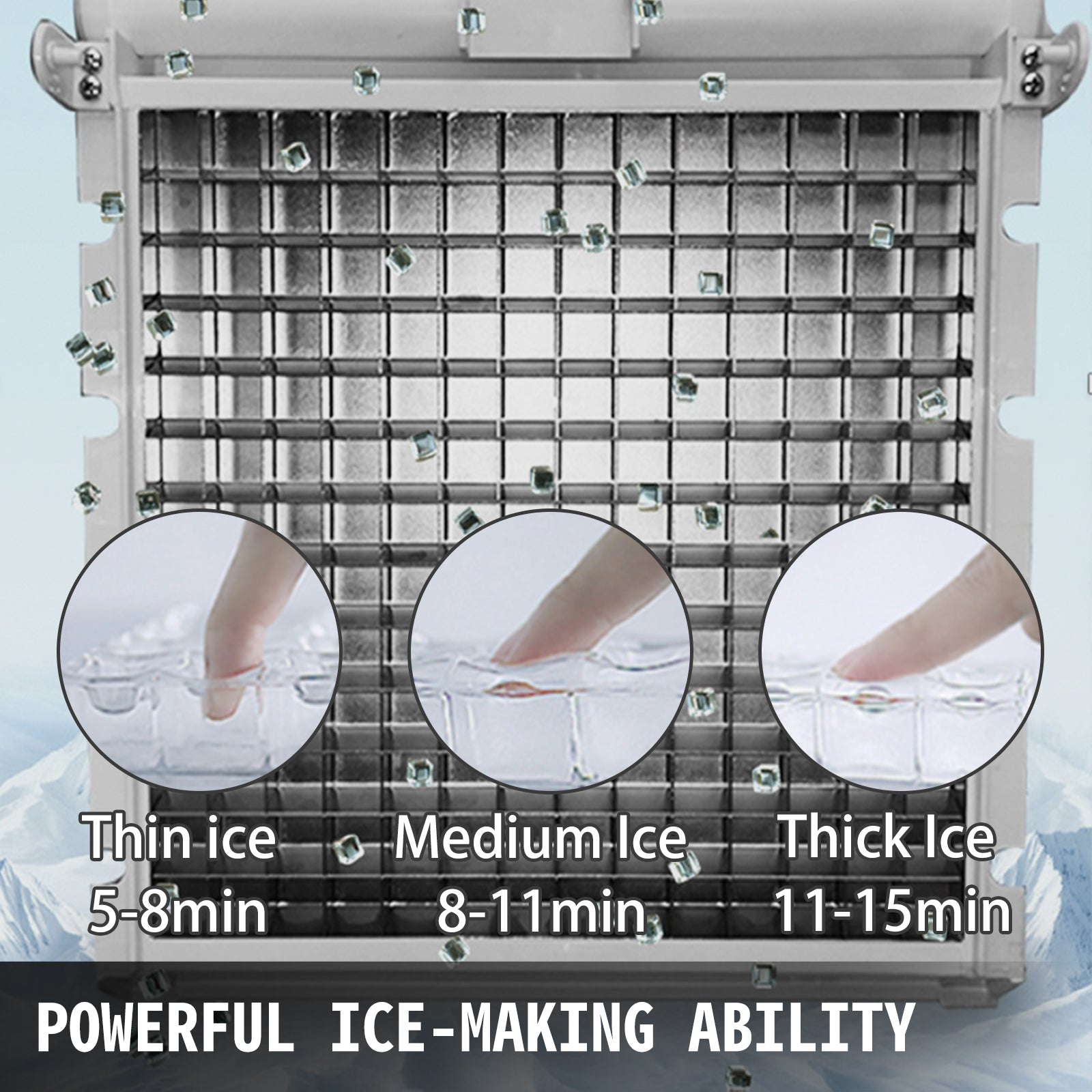 100lbs Auto Commercial Ice Cube Maker Machine Stainless Steel Bar 110v 230w Us