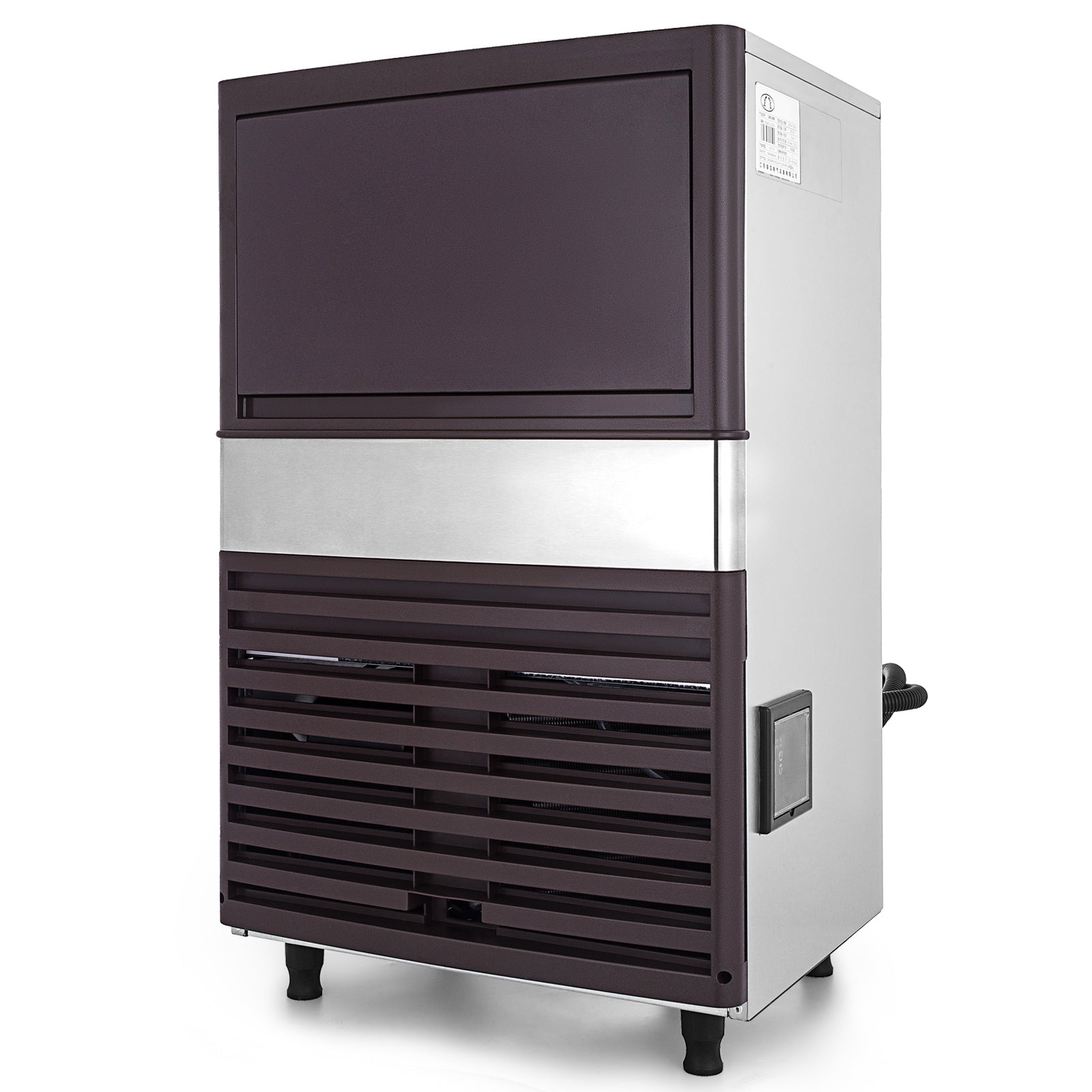 Commercial Ice Maker Ice Cube Making Machine Built-in Stainless Steel Restaurant