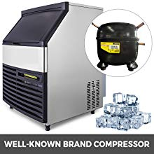 440lbs Stainless Steel Commercial 200kg 24hrs Ice Maker Machine Air Cooled Cube