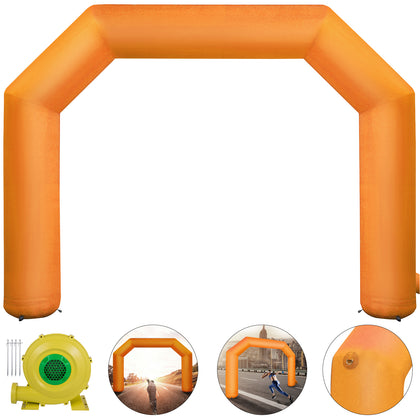Orange Inflatable Arch 19.5ft Outdoor Advertising Thicker Blower 8 Sandbags