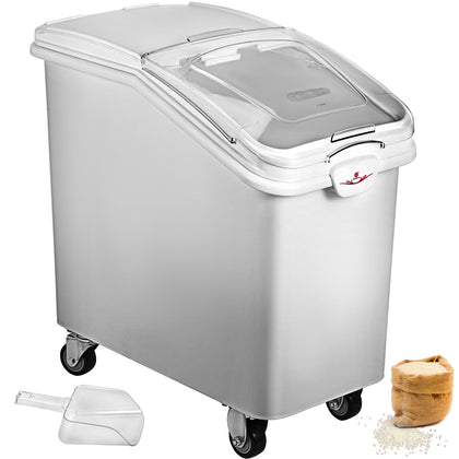 Ingredient Bin With Casters 27 Gallon Food Safe Restaurant Kitchen Flour Bins