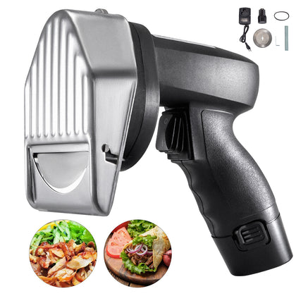 Electric Kebab Cutter Slicer Meat Doner Shawarma Cutting Machine 2 Blades