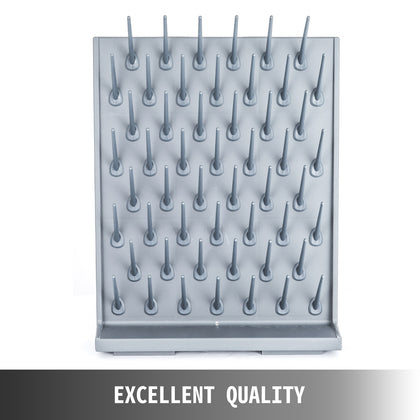Laboratory Drying Rack 52 Removable Peg Polypropylene Pegboard For Glassware Kit