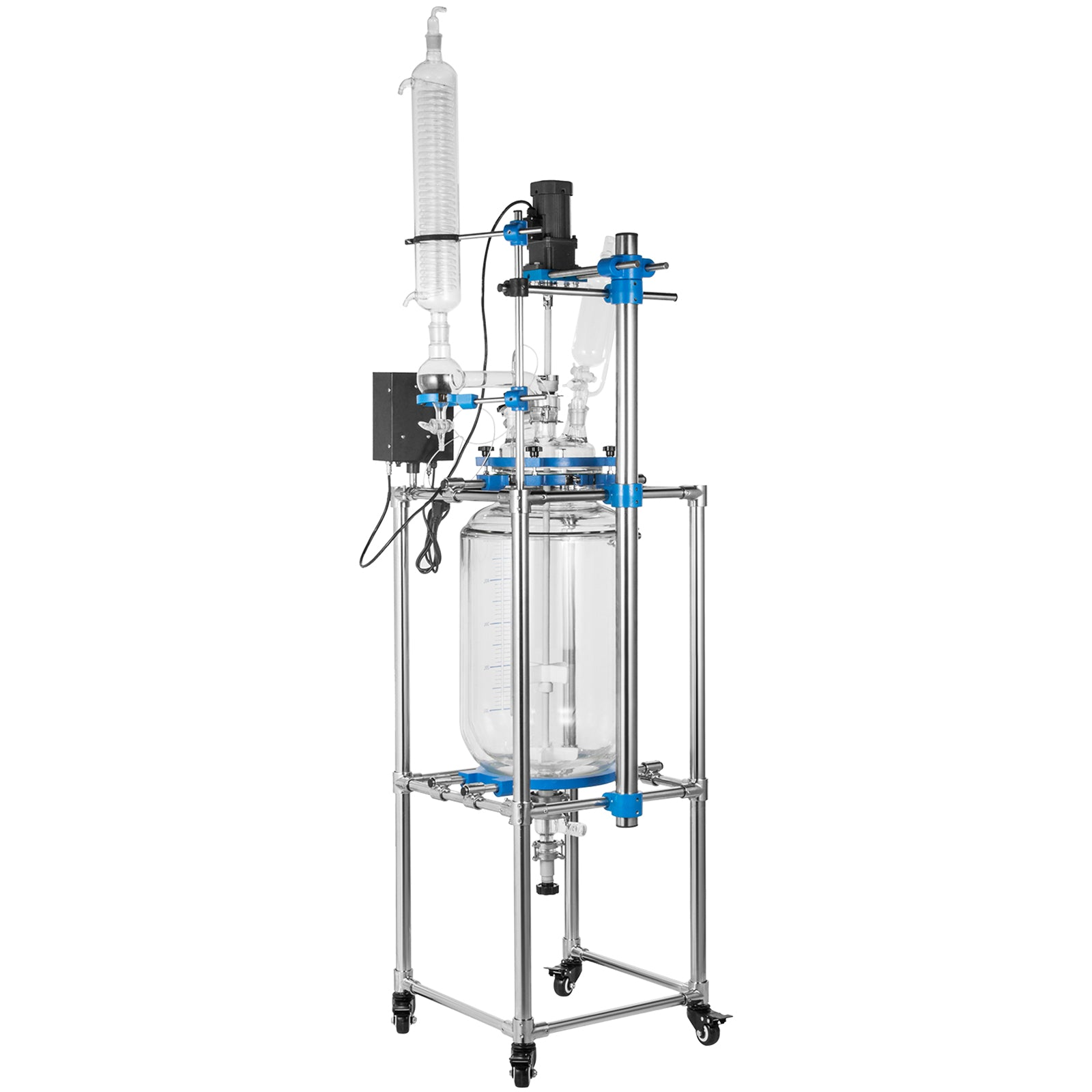 Vevorlab Jacketed Reactor Double Layer Glass Reactor 110v Reactor Vessel