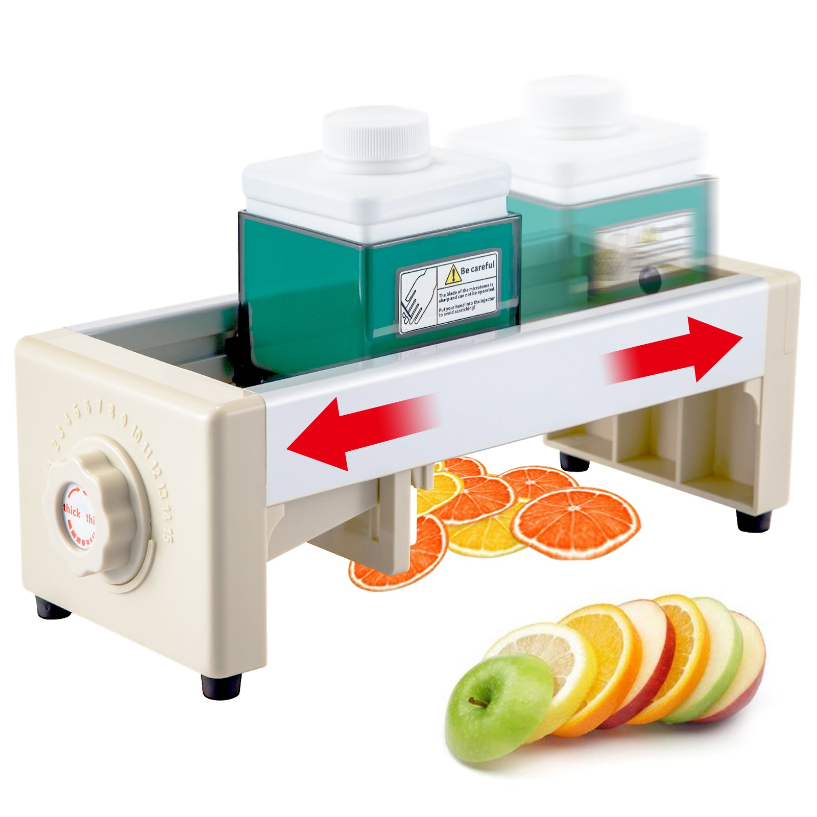Commercial Fruit Vegetable Slicer Tomato Lemon Cutter Slicing Machine Home
