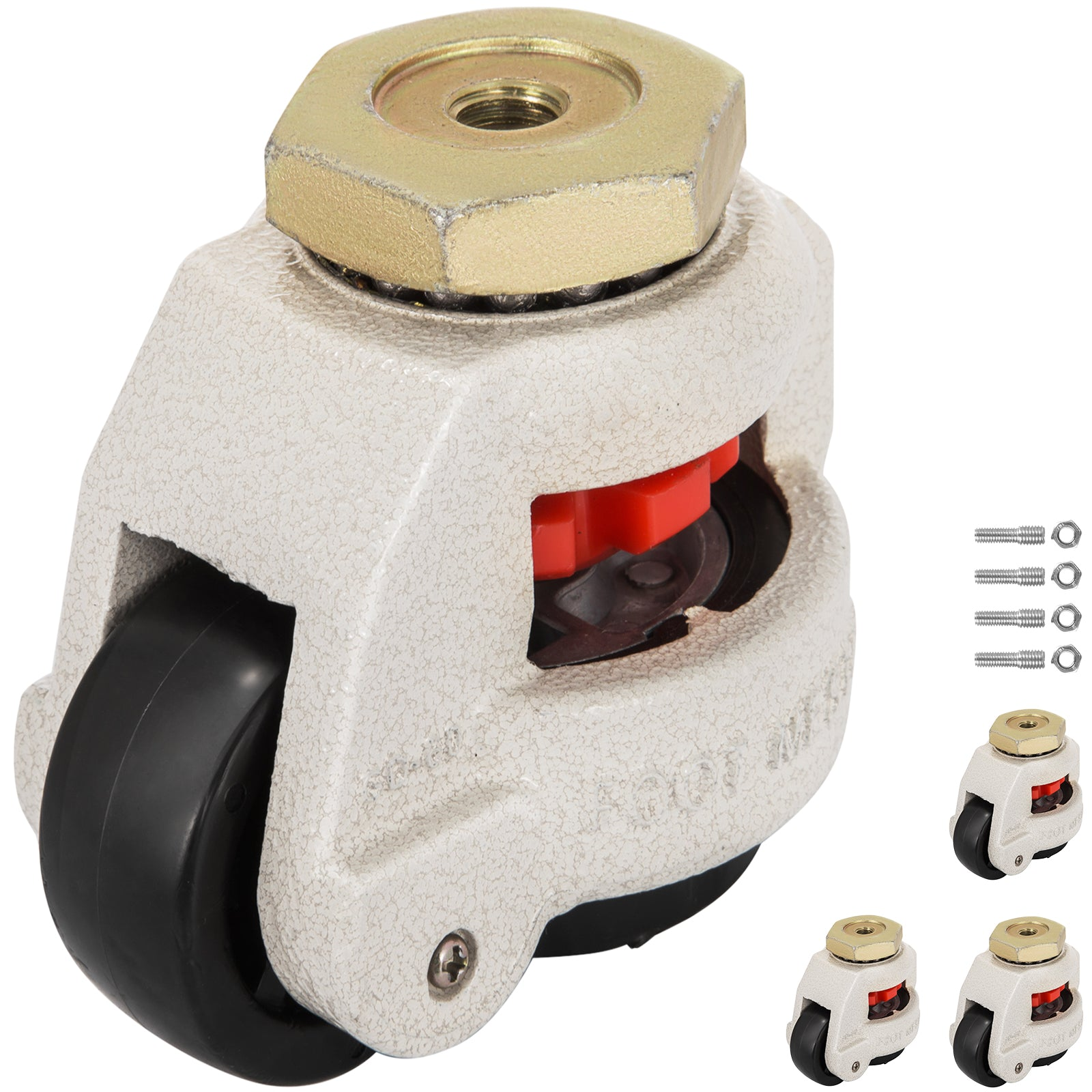 Gd-80s Set Of 4 Leveling Casters High Wearability Footmaster Caster Flexible
