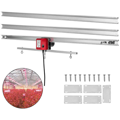 Vevor 10.8ft Light Track Rail 110v 10rpm Grow Light Mover Adjustable Drive Mover