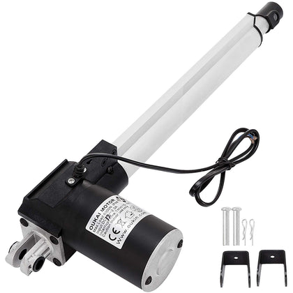 12 Inch Stroke Linear Actuator 6000n/1320lbs Pound Max Lift 12v Volt Dc Motor