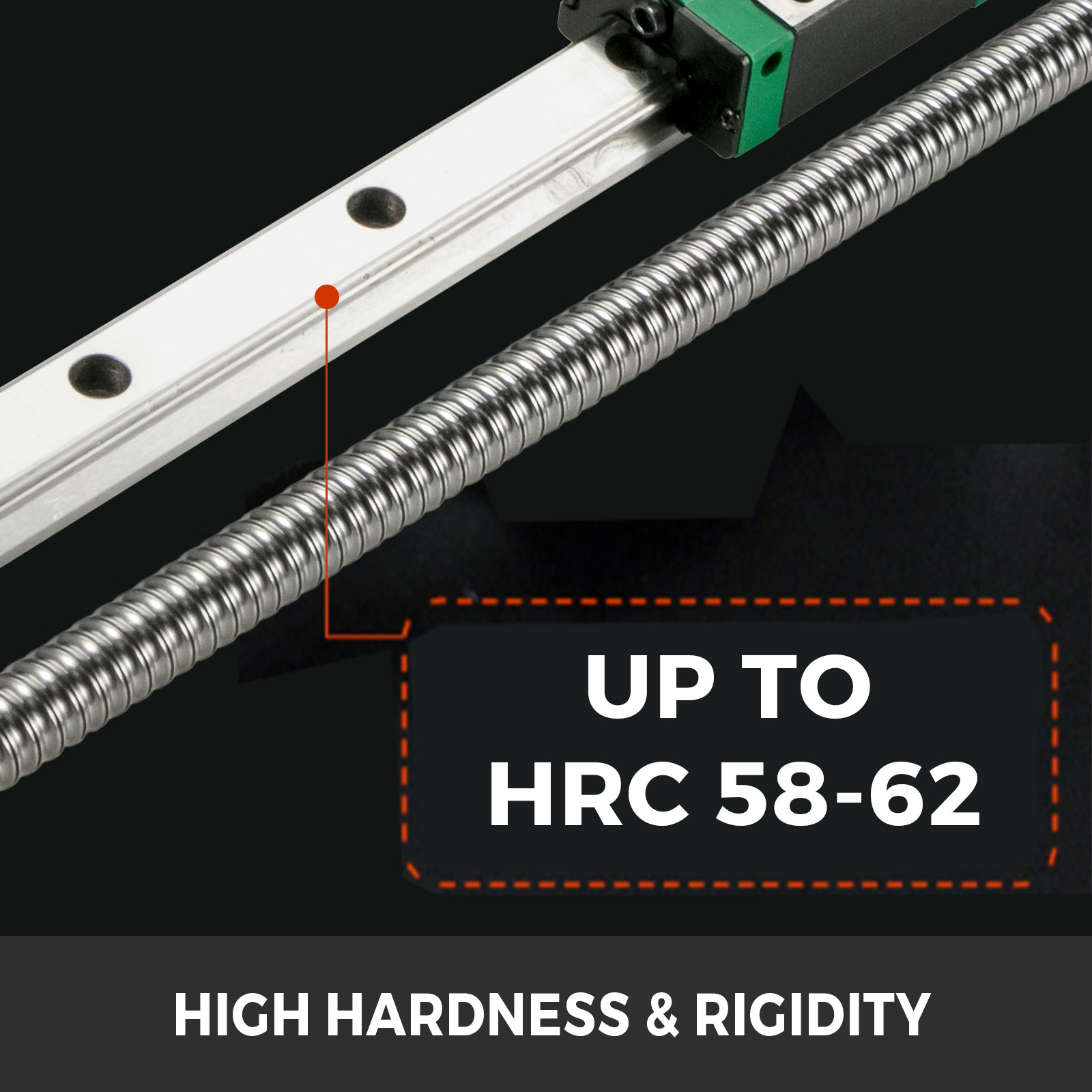 Cnc Set 2x Linear Rails Hgr20-200mm 4 Blocks Ballscrew Rm1605 Bf/bk12 Hardness