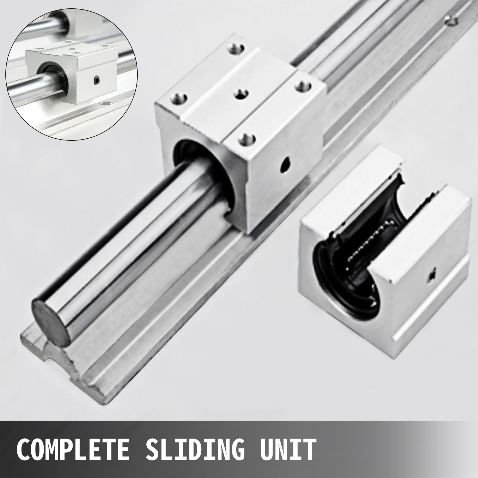 4pc SBR20UU Rail Block Kit Details about  /2pc Linear Rail Rod SBR20 200-1000mm Fully Supported