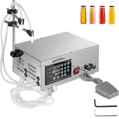 2 Heads Liquid Filling Machine Electric Bottle Filler Digital Pump 300w 3500ml