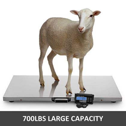 700lbs Digital Livestock Vet Scale Lcd Athlete Scale Large Pet Warehouse