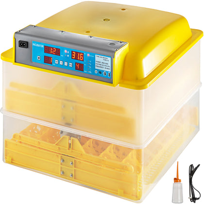 72 Digital Clear Egg Incubator Hatcher Automatic Egg Turning Temperature Control