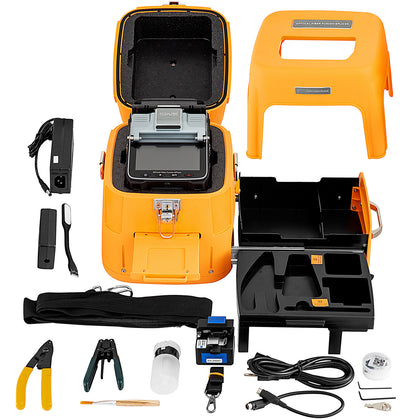 Ai-7 Fiber Optic Fusion Kit Automatic Fiber Optic Splicing Machine W/ Cleaver