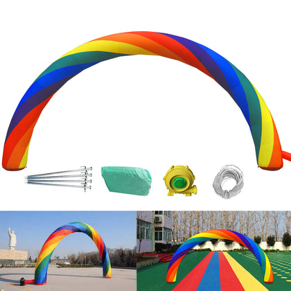 Inflatable Rainbow Arched Door Advertising Arch 26ft*10ft (8*4m) Holiday Decorat