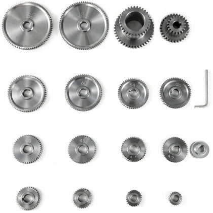 17pcs/set Cj0618 Mini Lathe Gears T20-t80 Metal Exchange Gear Lathe Machine