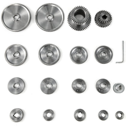 18pcs/set Cj0618 Mini Lathe Gears T20-t80 Metal Exchange Gear Lathe Machine