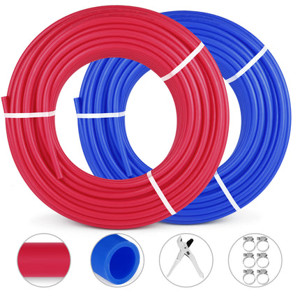 2 Rolls 1/2″300ft Pex Tubing Pipe Non-barrier Piping Applications Radiant