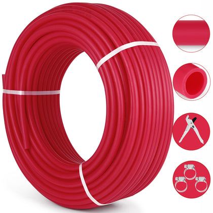 1/2x300ft Pex Tubing Oxygen Barrier O2 Evoh Red Radiant For In Floor Heat