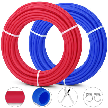 200ft 1/2 Oxygen Barrier Pex Tubing 100ft Red And 100ft Blue Pipe Pex-b