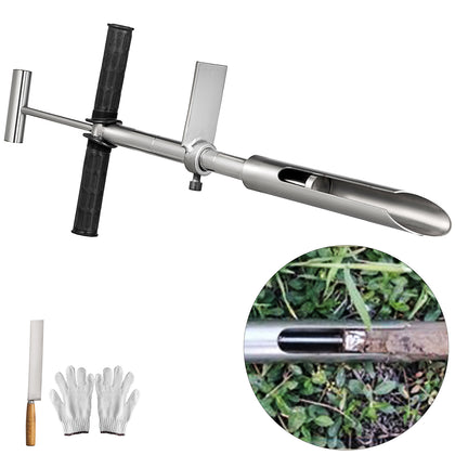 Sus304 Soil Probe Sampler W/ Foot Pedal Eject T-style Probe Drill Moisture Soil