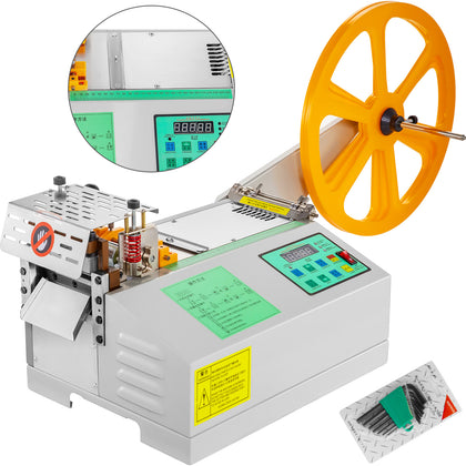 Textile Ribbon Cutting Machine Cold Automatic Tube Tape Cutter 100mm Width