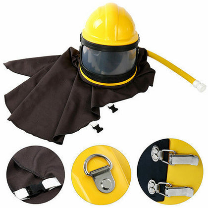 Sandblast Helmet Kit Sand Blast Hood Silica Gel Fastness High Efficiency