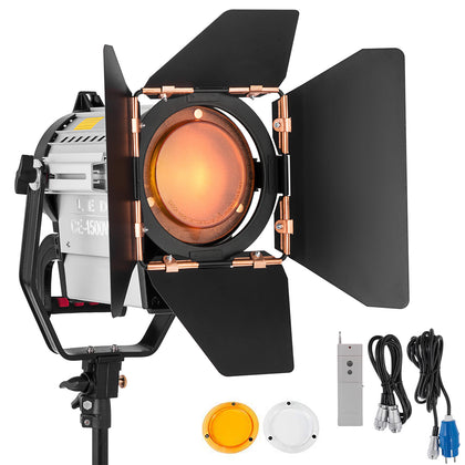 150w Fresnel Dimmable Wireless Remote Led Spotlight For Photography Video Studio