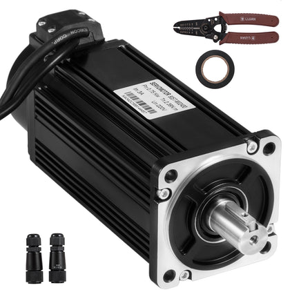 Servo Motor 750w 2.4nm Ac Servo Cable Kit 220v F Cnc Mill Machine Vevor®