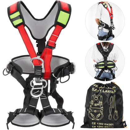 Safety Climbing Harness Rock Climbing Gear Rappelling Floor Escape Tower Climber
