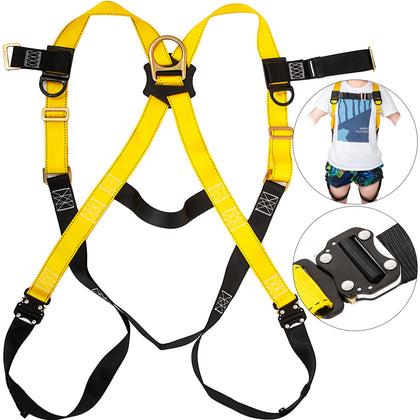 Safety Harness 1d Ring Fall Protection Full Body Construction Ansi Osha Ul Vevor