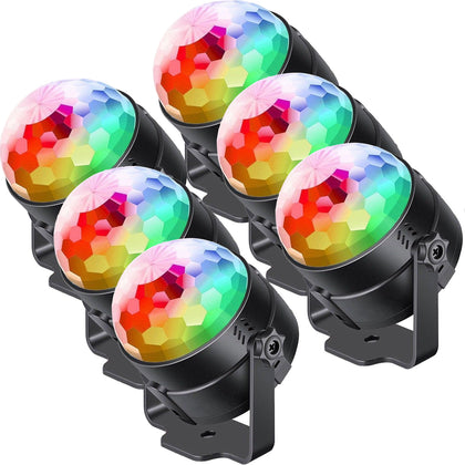 6 Pcs Crystal Disco Ball Party Lights Dj Lights Dance Dmx512 Remote Control Mp3