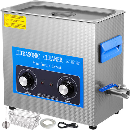 Knob Control 30l Ultrasonic Cleaner Stainless Steel Heated Heater W/timer
