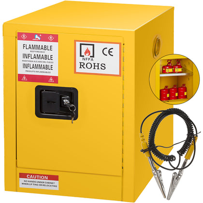 47 Gallon Safety Cabinet For Flammable Liquids Welded Hinges Yellow Updated