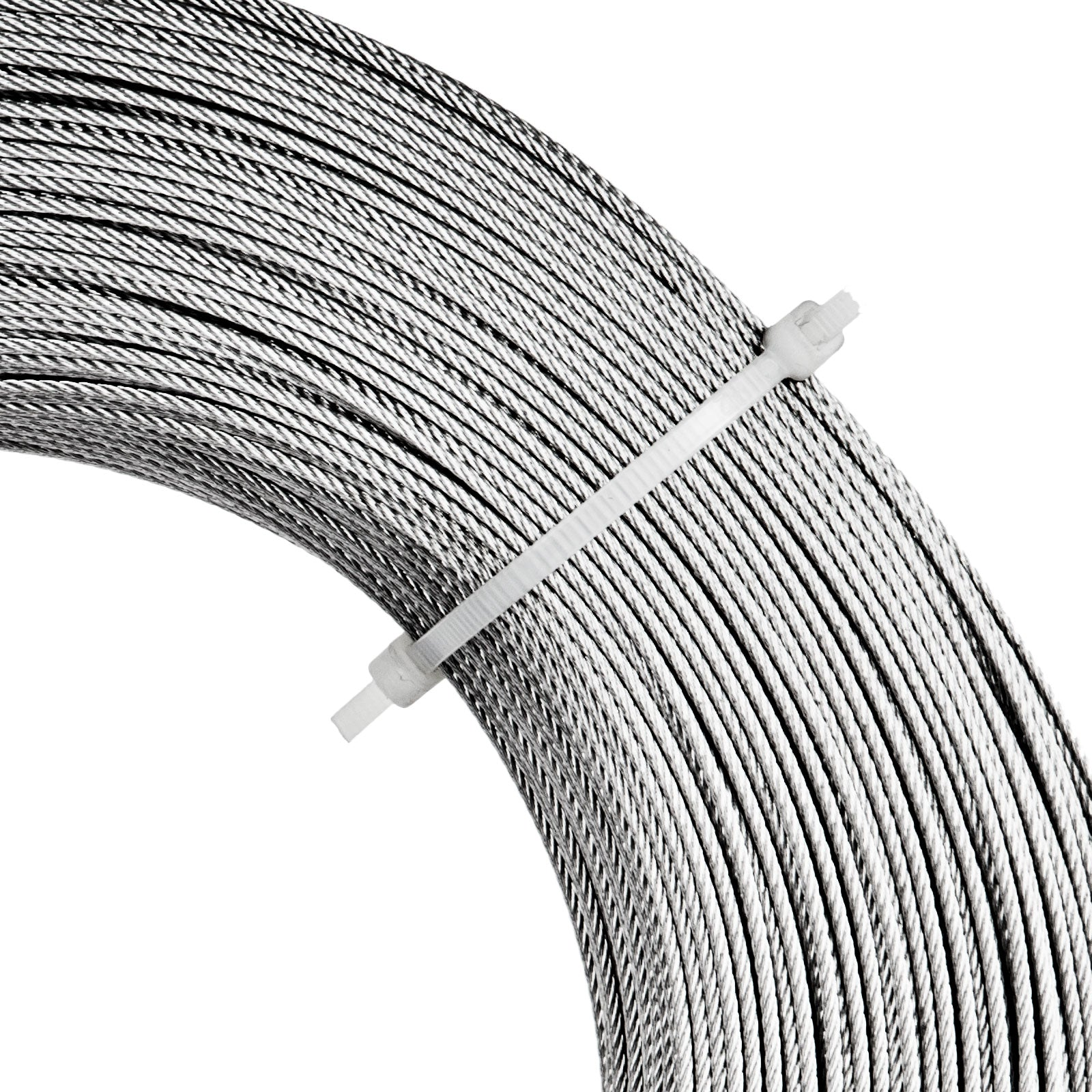 "1,000ft Stainless Steel Type 316 Wire Rope 7x7 - 1/16"" - Cable"