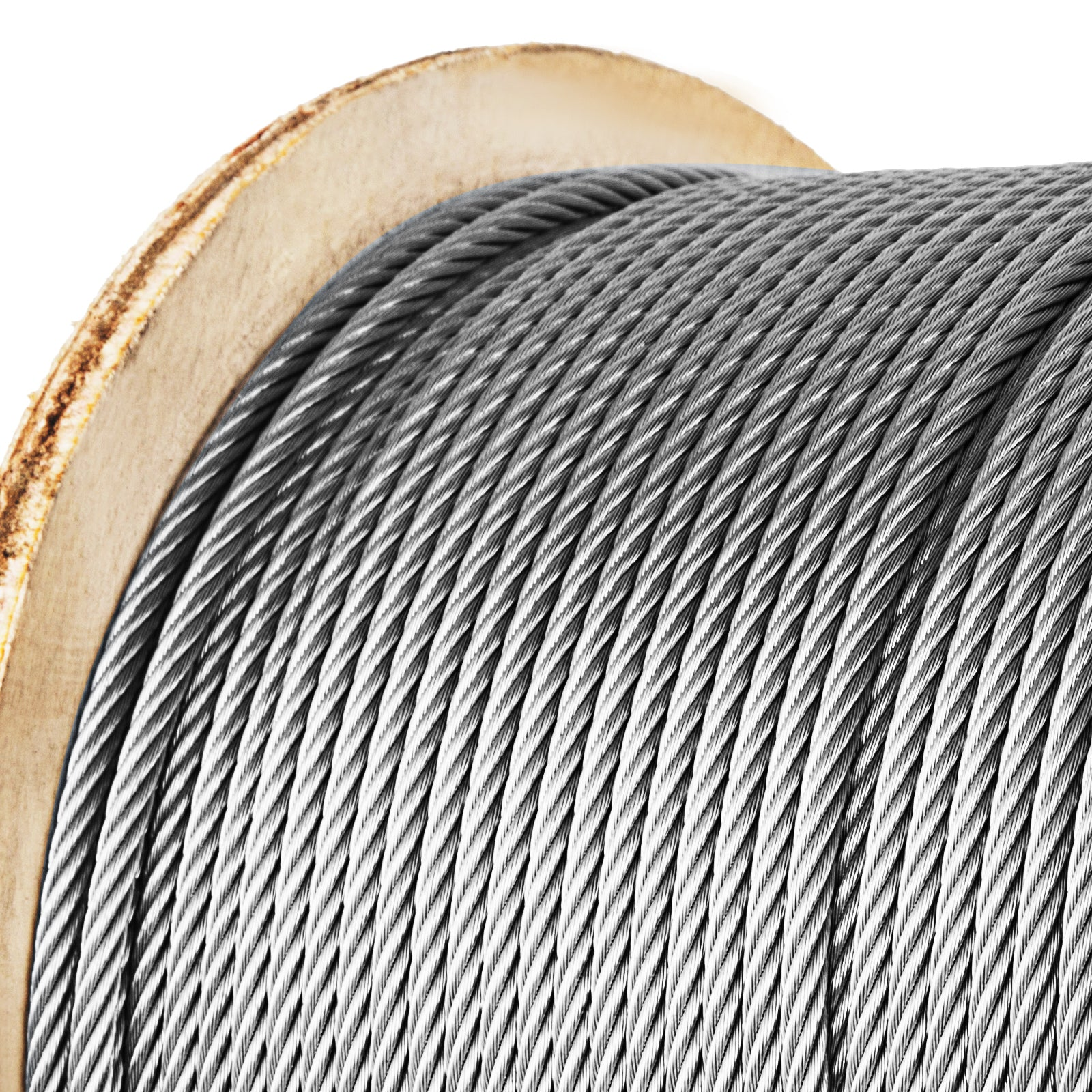 "304 Grade 7 X 19 Stainless Steel Cable Wire Rope 1/4""- 500 Ft"