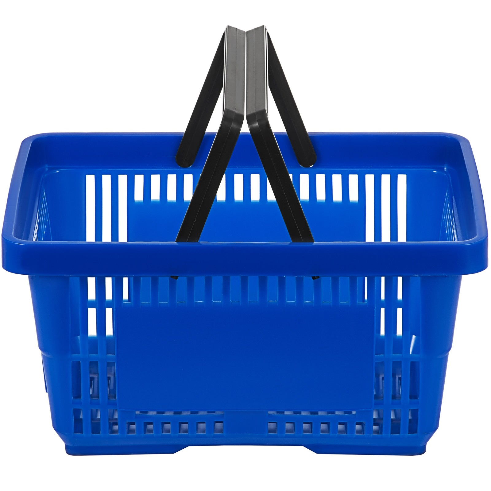 Blue Plastic Shopping Basket Pack Of 12 Handled Baskets