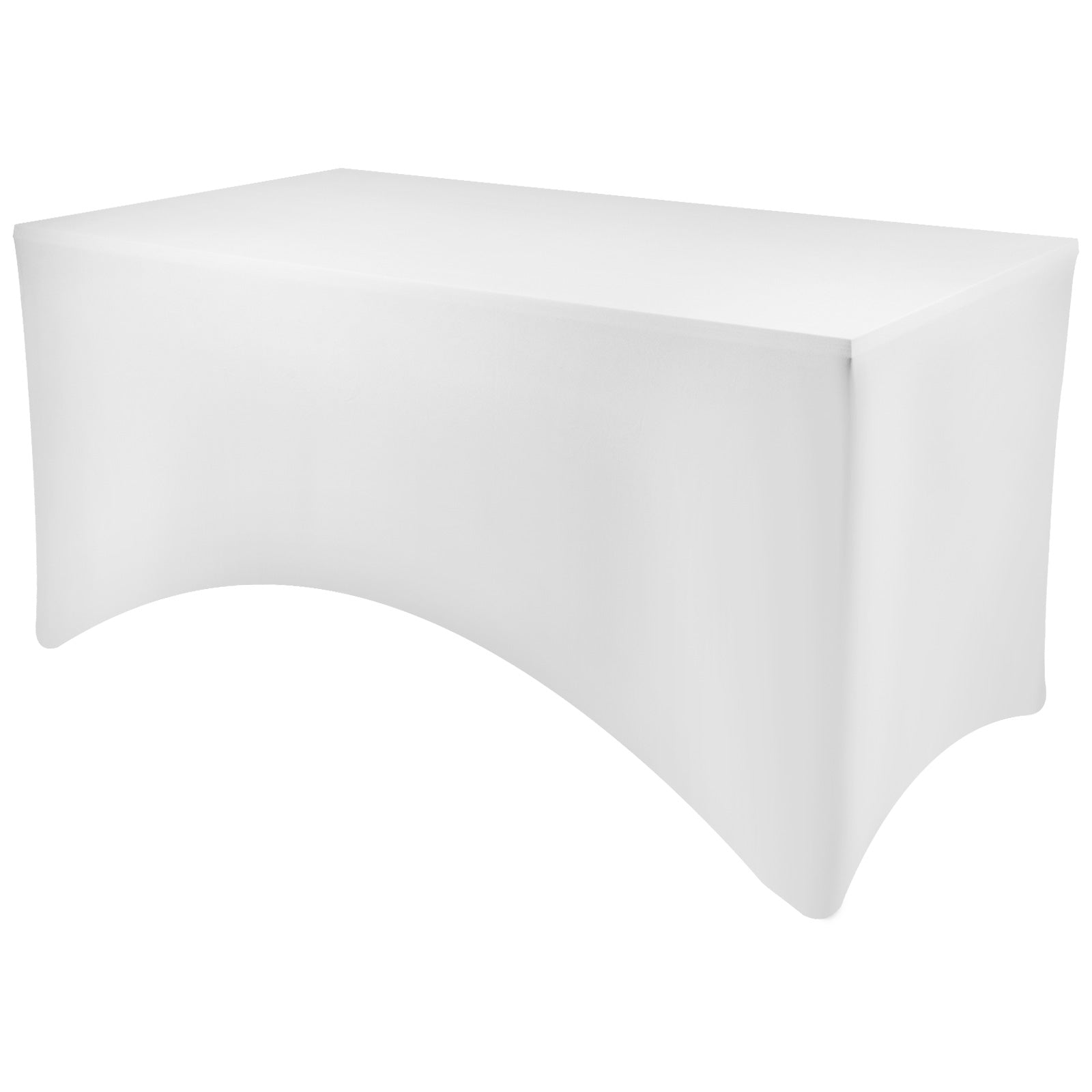 20pc 4ft Stretch Spandex Table Covers Fitted Rectangular Tablecloths White 4/'