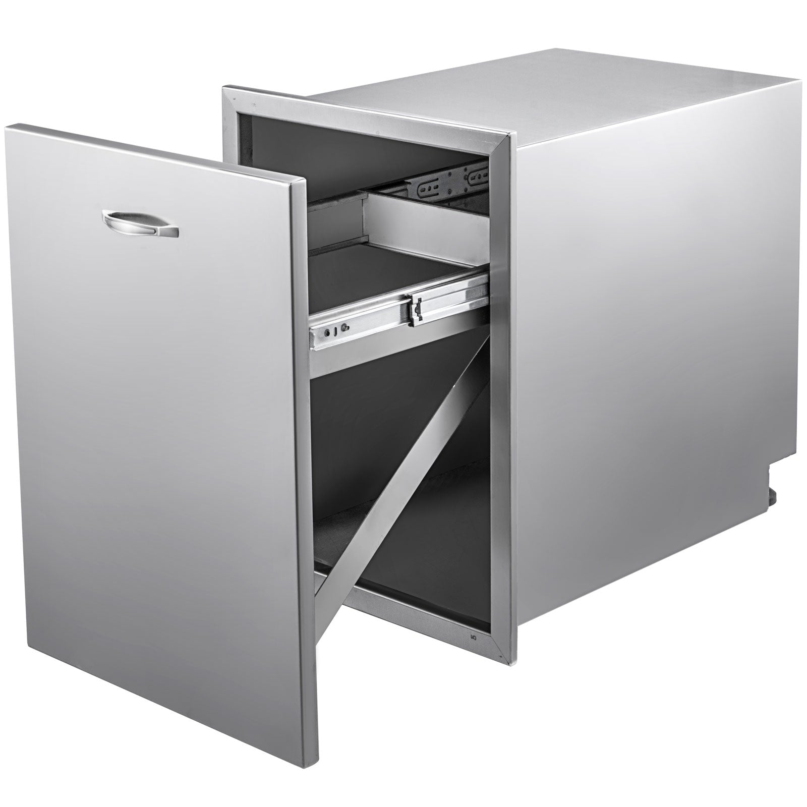 Bbq Island / Outdoor Kitchen Stainless Steel Narrow Trash Drawer