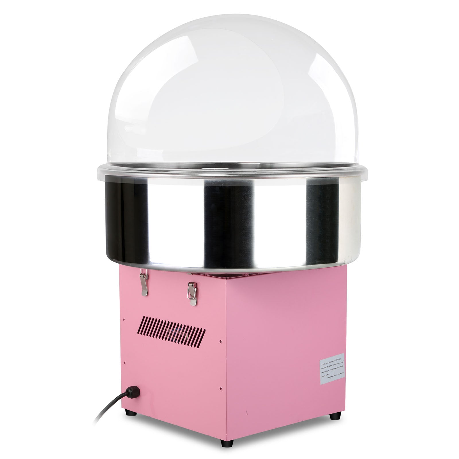 "Cotton Candy Machine Pink Floss Maker Party 20.5"" Bubble Shield Cover Clear"