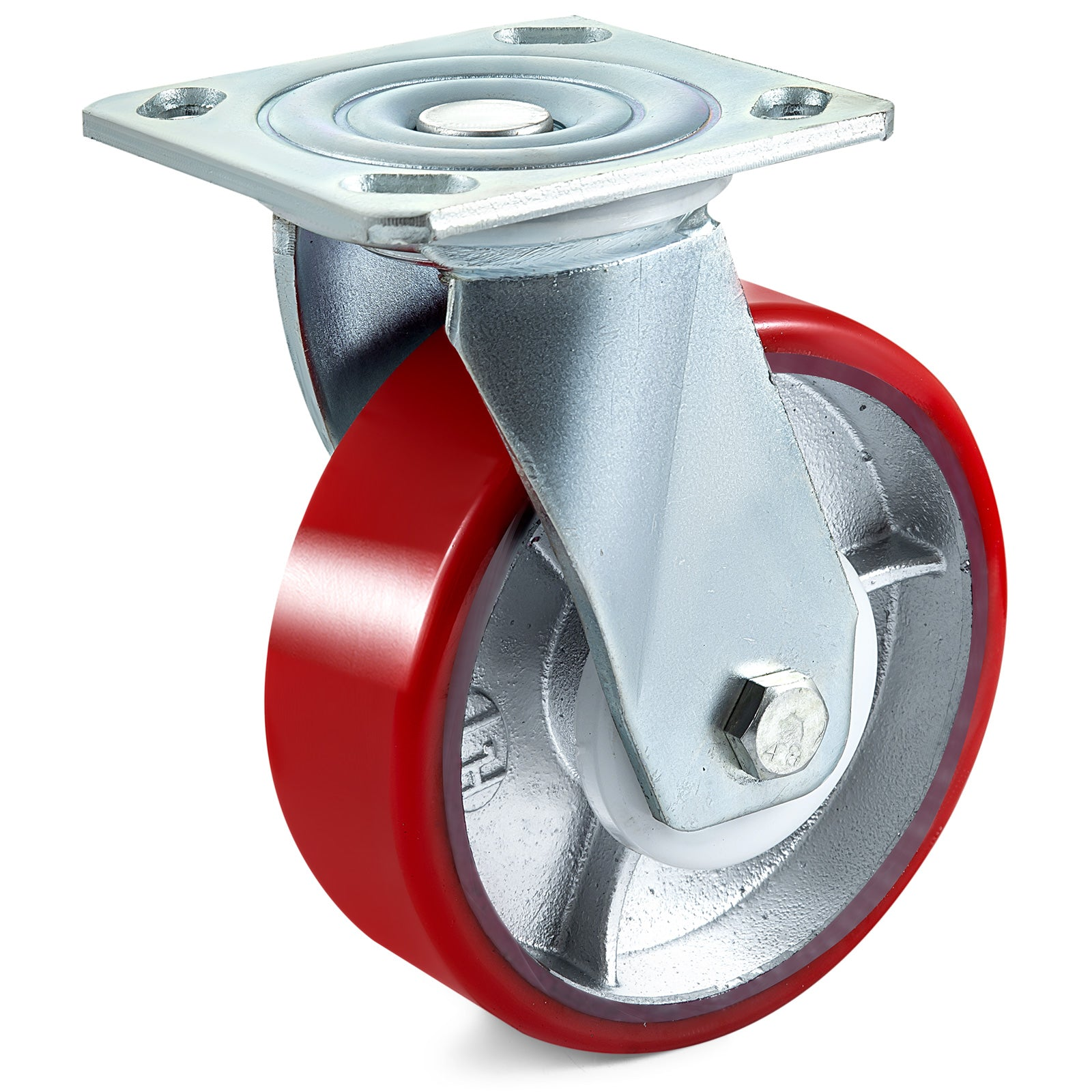 "4pack 6"" Pu Casters 360 Degrees Swivel Safety 2'' Width"