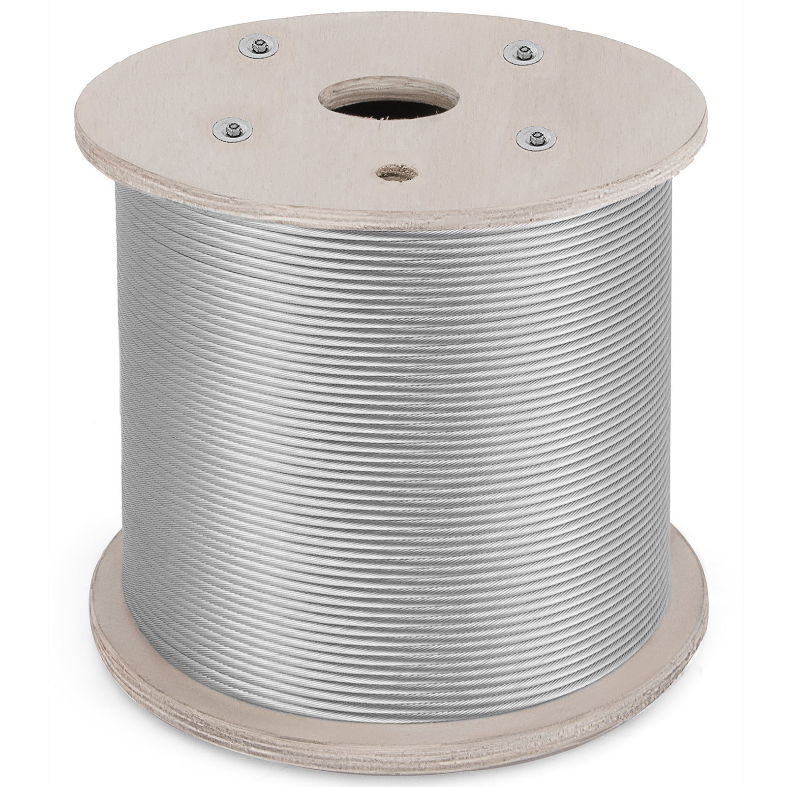 "T316 Stainless Steel Cable Wire Rope,1/8"",7x7,400ft Lifting Aircraft Machinery"