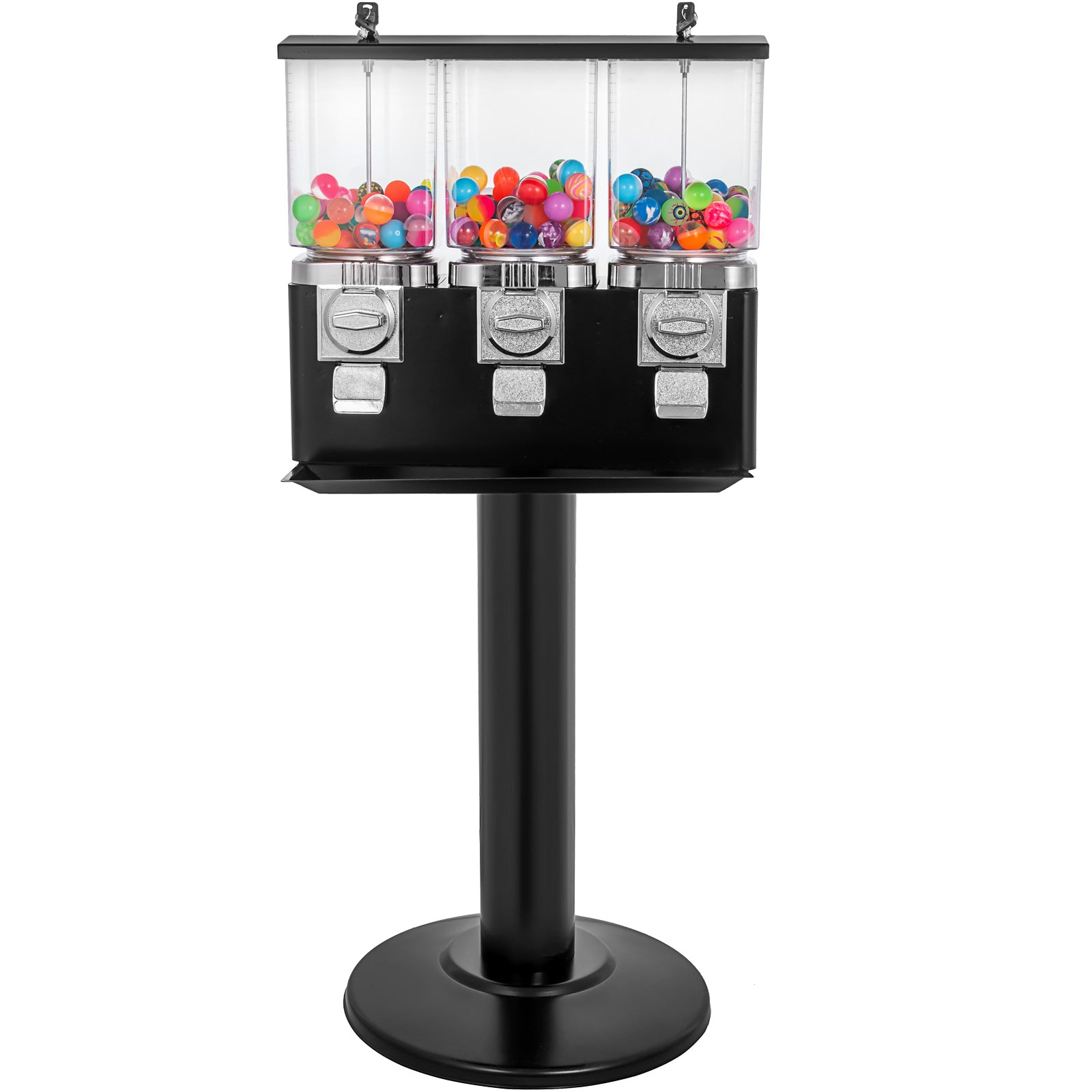 Triple Bulk Candy Vending Machine With Stand Removable Canisters 1
