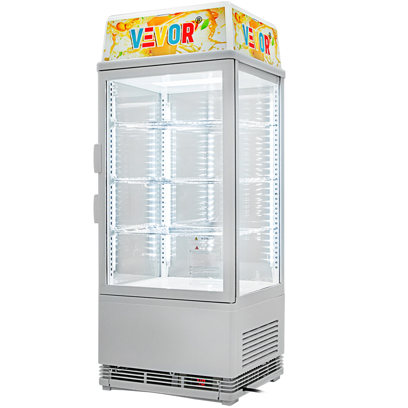 Commercial Beverage Refrigerator 78l Countertop Display Cooler Drink Show Case
