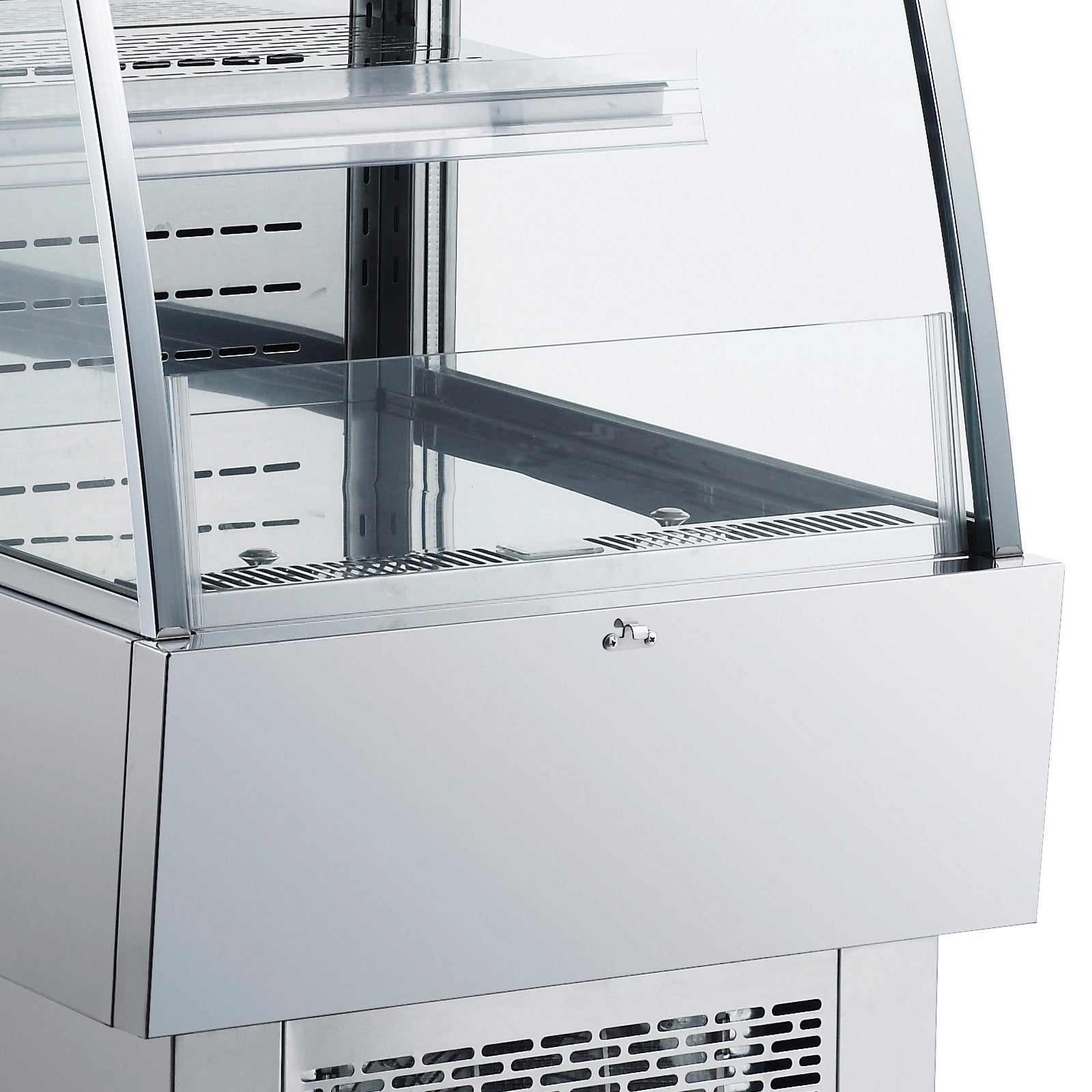 Open Refrigerator 230l 24 Inchs Stainless Steel Air Curtain Merchandisers