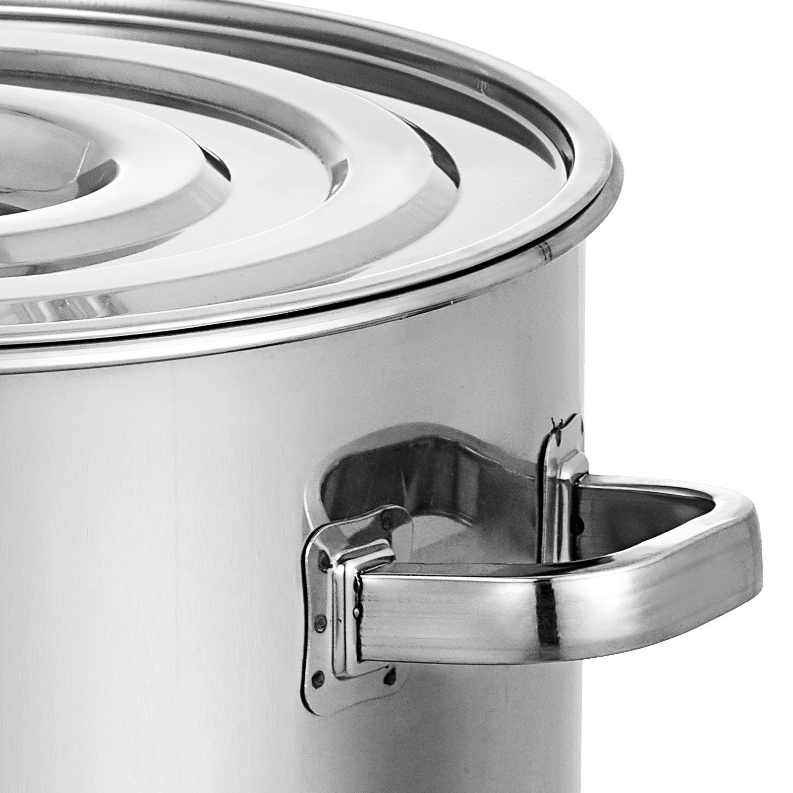 180qt Quart Heavy Duty Tri-ply Thick Base Stainless Steel Stock Pot W/lid
