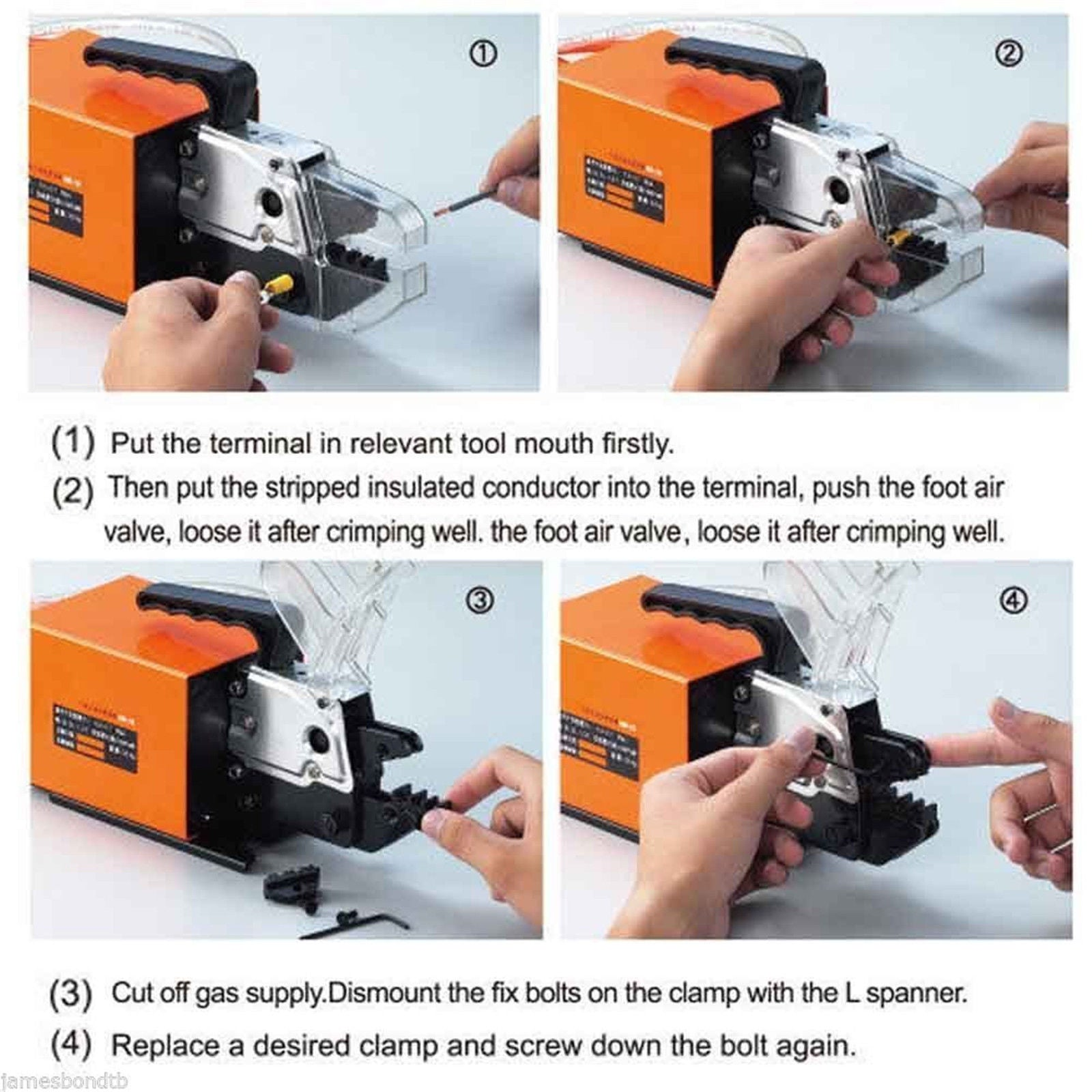 Am-10 Pneumatic Crimping Tool 15 Dies Good Quality Crimper High Efficiency