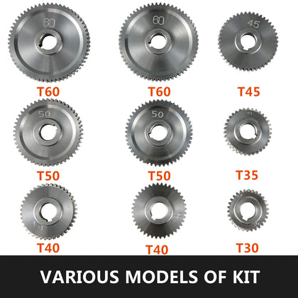 9pcs/set Cj0618 Lathe Lathe Gears T30-t60 Metal Gear Rust-proof Compatibility